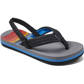 Reef Ahi Sandals Kids, grey pinstripes